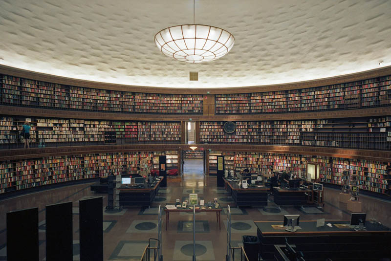 stockholm public library interior 15 Beautiful Libraries Around the World