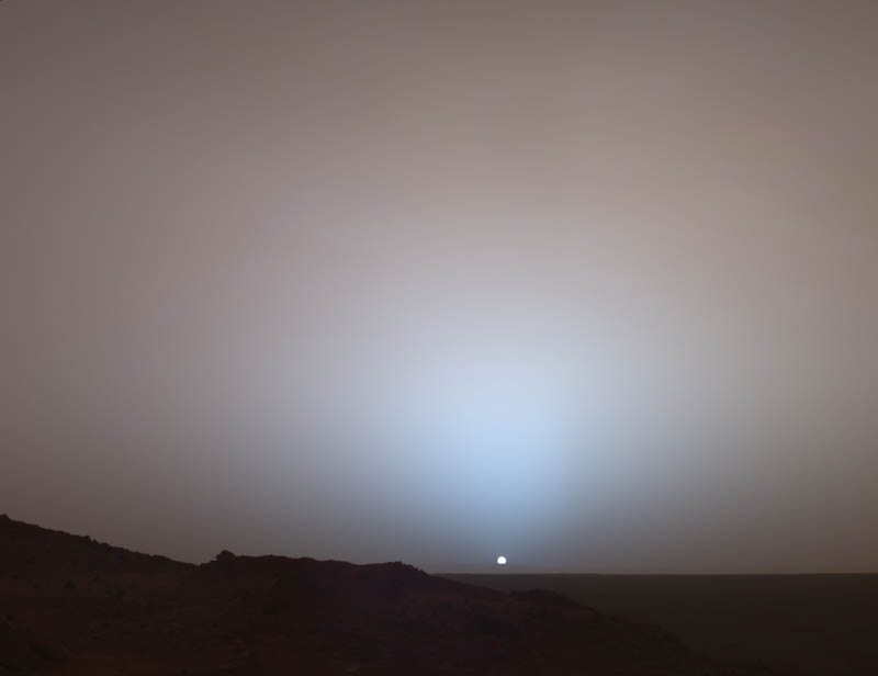 sunset on mars The Top 50 Pictures of the Day for 2011