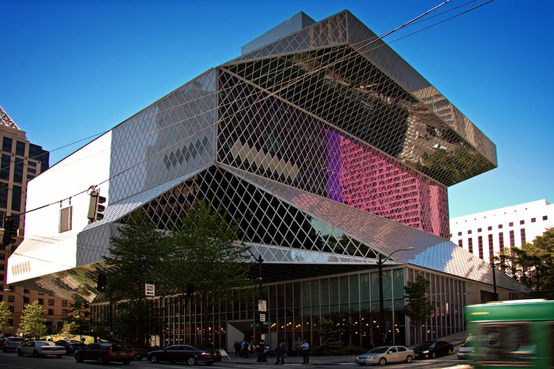 the seattle central public library 15 Beautiful Libraries Around the World