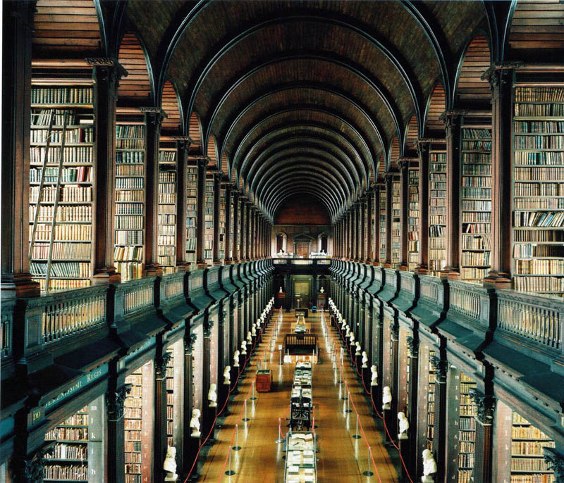 trinity college library university of dublin 15 Incredible Libraries Around the World