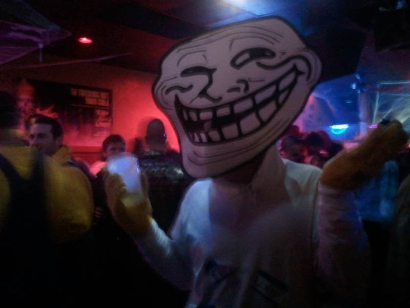 trollface problem hilarious halloween costume 23 funny and creative halloween costumes - Cool Halloween Pics