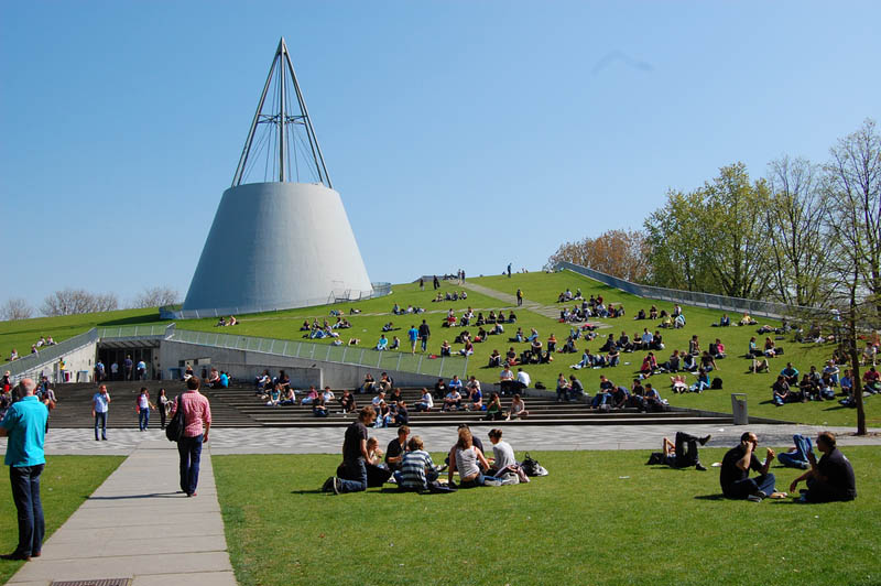 tu delft library exterior dome 15 Beautiful Libraries Around the World