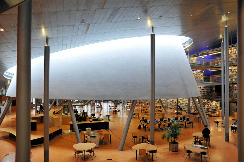 tu delft library 15 Beautiful Libraries Around the World