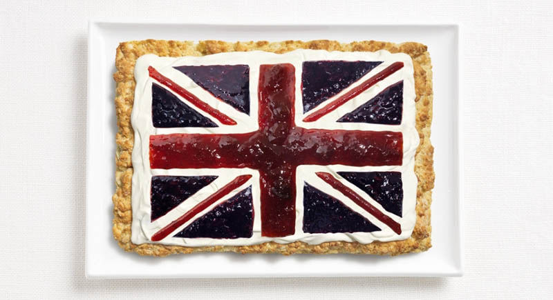 united kingdom flag made from food 18 National Flags Made From Food