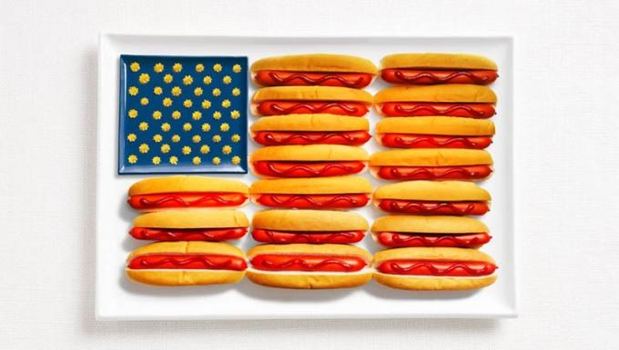 アメリカ合衆国食品から作られたフラグ18食品から作られた国旗