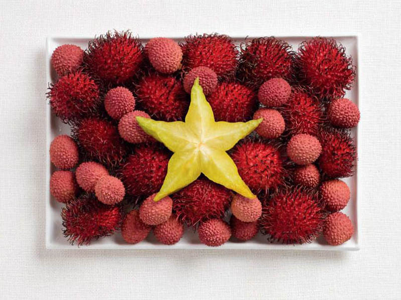 vietnam flag made from food 18 National Flags Made From Food