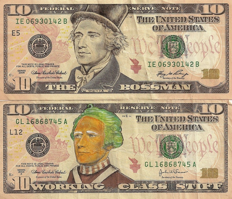 wonka oompa cash currency bill art This Artist Transforms US Banknotes Into Hilarious Portraits