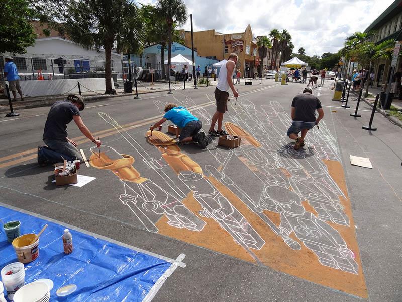 3d sidewalk chalk art lego terracotta warriors army 6 3D Sidewalk Art: Lego Terracotta Warriors