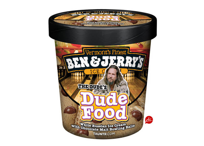 big lebowski dude food funny ben and jerrys ice cream labels flavors 15 Pop Culture Pac Man Mods