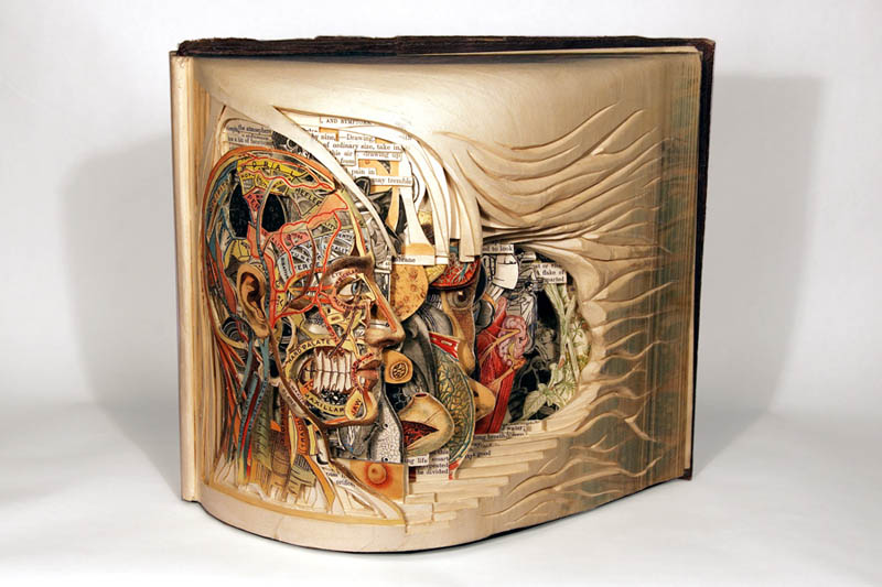 book art carving sculpture brian dettmer 10 Mind Blowing Mixed Media Assemblages by Kris Kuksi