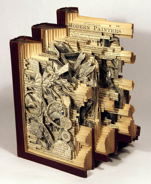 book art carving sculpture brian dettmer 12 Intricate Book Art Carvings by Brian Dettmer