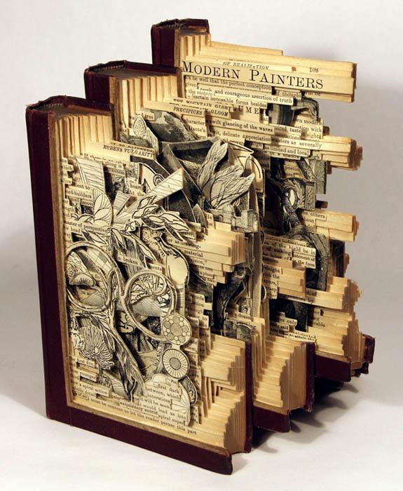 book art carving sculpture brian dettmer 12 Intricate Book Art Carvings by Brian Dettmer