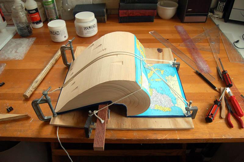 book art carving sculpture brian dettmer 16 Intricate Book Art Carvings by Brian Dettmer