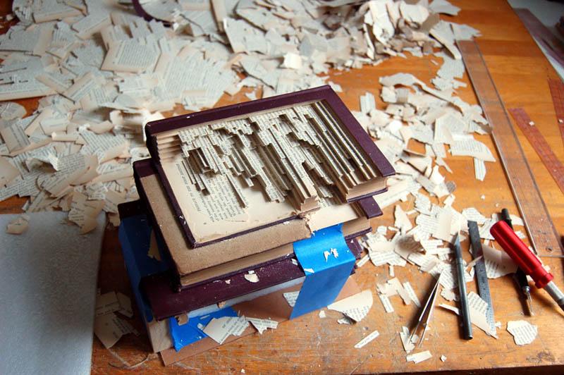 book art carving sculpture brian dettmer 17 Intricate Book Art Carvings by Brian Dettmer