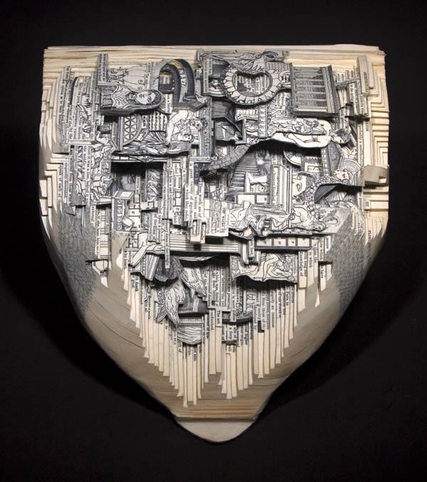 book art carving sculpture brian dettmer 20 Intricate Book Art Carvings by Brian Dettmer