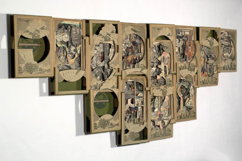 book art carving sculpture brian dettmer 24 Intricate Book Art Carvings by Brian Dettmer