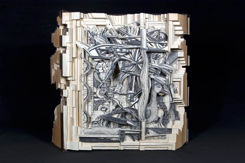 book art carving sculpture brian dettmer 25 Intricate Book Art Carvings by Brian Dettmer