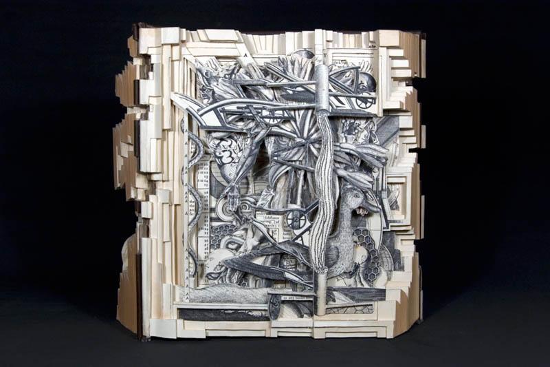 book art carving sculpture brian dettmer 25 Intricate Book Art Carvings by Brian Dettmer