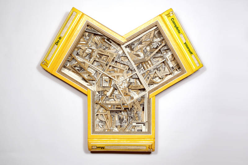 book art carving sculpture brian dettmer 27 Intricate Book Art Carvings by Brian Dettmer