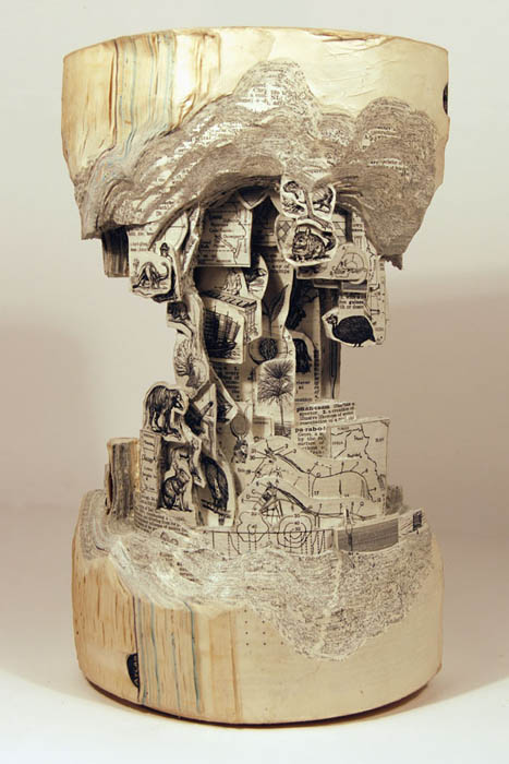 book art carving sculpture brian dettmer 3 Intricate Book Art Carvings by Brian Dettmer