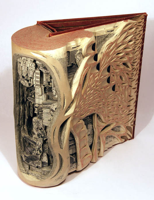 book art carving sculpture brian dettmer 4 Intricate Book Art Carvings by Brian Dettmer