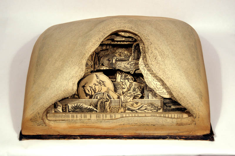 book art carving sculpture brian dettmer 5 Intricate Book Art Carvings by Brian Dettmer