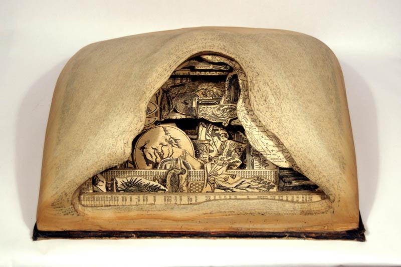 book art carving sculpture brian dettmer 5 Intricate Book Art Carvings by Brian Dettmer