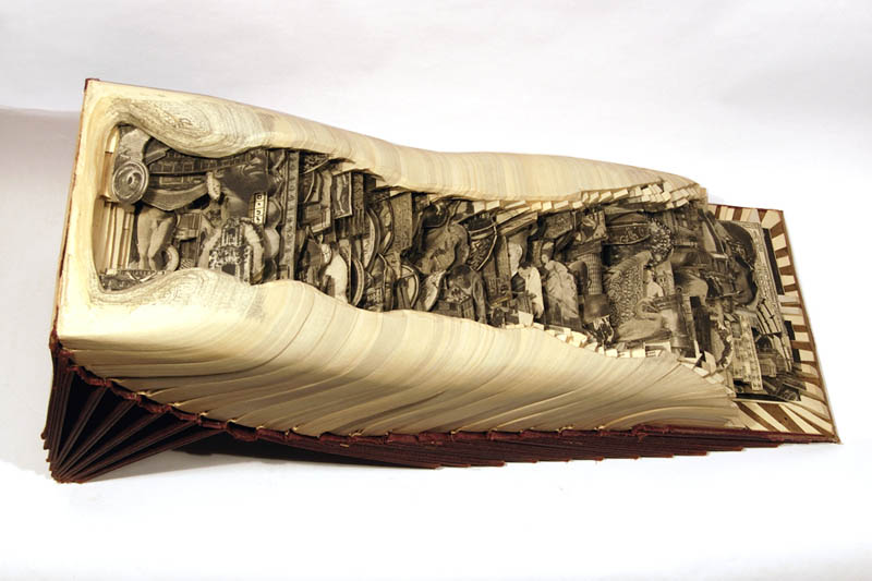 book art carving sculpture brian dettmer 7 Intricate Book Art Carvings by Brian Dettmer