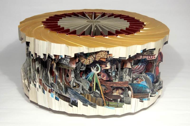 book art carving sculpture brian dettmer 8 Intricate Book Art Carvings by Brian Dettmer