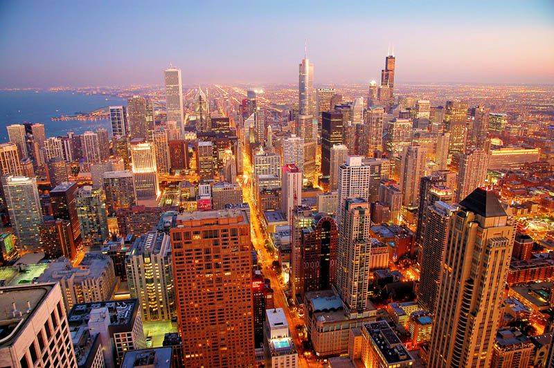 chicago skyline aerial from above Top 25 Cities in the World with the Most High Rise Buildings