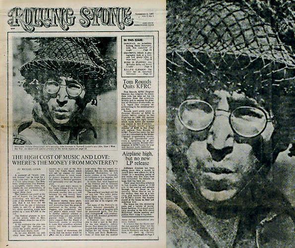 first cover issue of rolling stone magazine john lennon 1967 This Day In History   November 9th