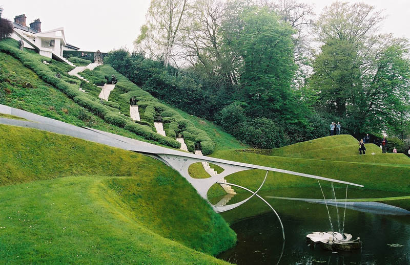 garden of cosmic speculation charles jencks 15 The Incredible Sculptures of Gibbs Farm