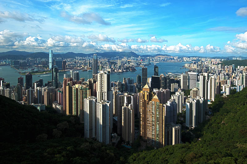 hong kong skyline aerial panoramic Top 25 Cities in the World with the Most High Rise Buildings