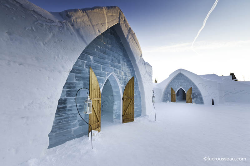 hotel de glace americas only ice hotel quebec city canada 17 hotel de glace north boxed ice office exterior