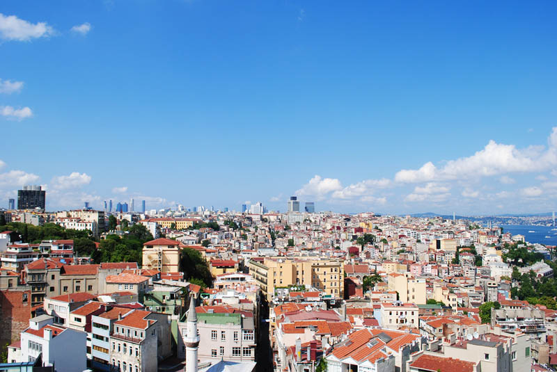 istanbul turkey skyline aerial from above Top 25 Cities in the World with the Most High Rise Buildings