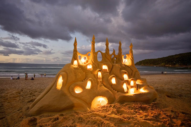 Picture of the Day: An Illuminated Sandcastle