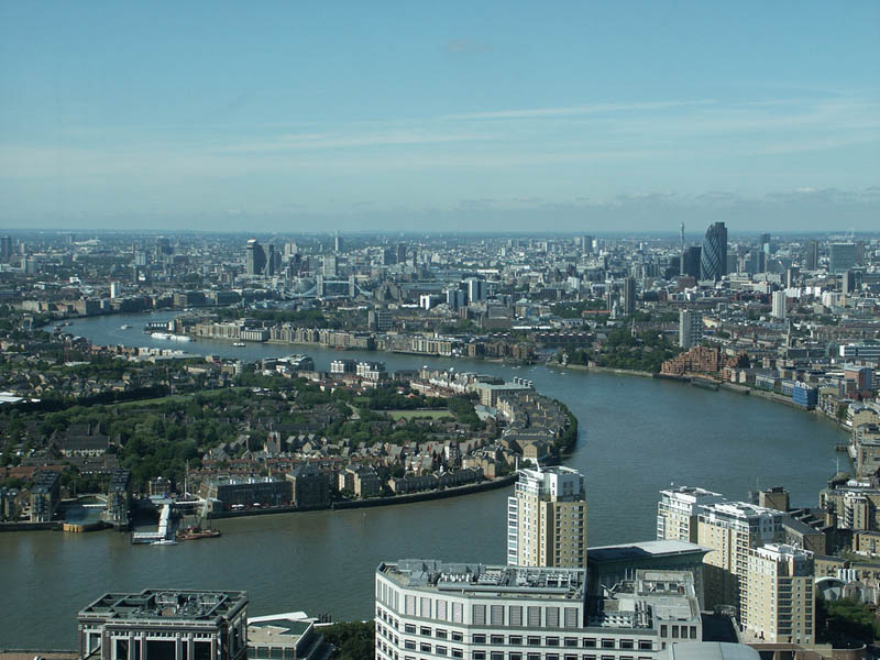 london sykline aerial from above Top 25 Cities in the World with the Most High Rise Buildings