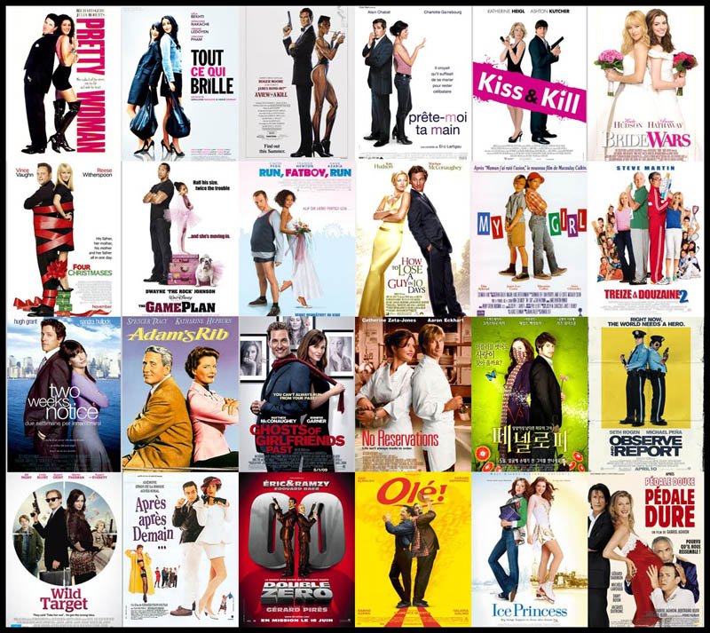 movie poster cliches themes styles back to back viewed from side 1 Movie Posters from an Alternate Universe