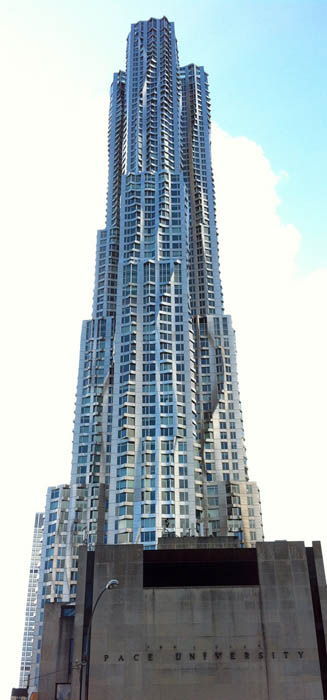 new york by gehry building manhattan new york city 1 New York by Gehry: Tallest Residential Tower in Western Hemisphere