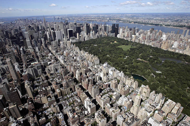 new york city skyline aerial central park Top 25 Cities in the World with the Most High Rise Buildings
