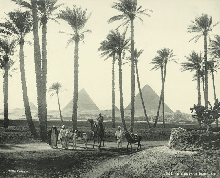 old vintage photos of egypt 1870 1875 14 Rare Photos of Egypt from the 1870s