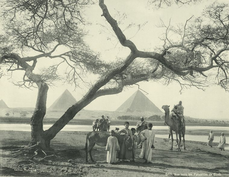 old vintage photos of egypt 1870 1875 15 Rare Photos of Egypt from the 1870s
