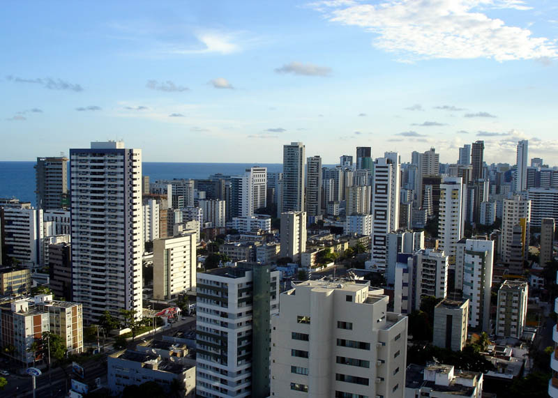 recife brazil skyline aerial from above Top 25 Cities in the World with the Most High Rise Buildings