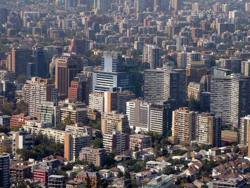 santiago skyline aerial from above Top 25 Cities in the World with the Most High Rise Buildings