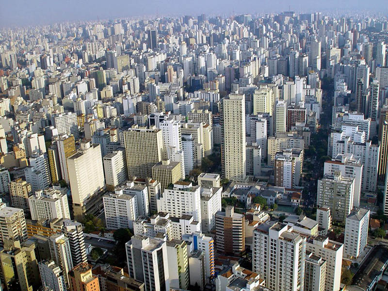 sao paulo skyline aerial brazil Top 25 Cities in the World with the Most High Rise Buildings
