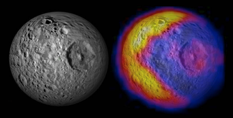 saturn death star pacman moon 15 Mind Blowing Featured Images by NASA