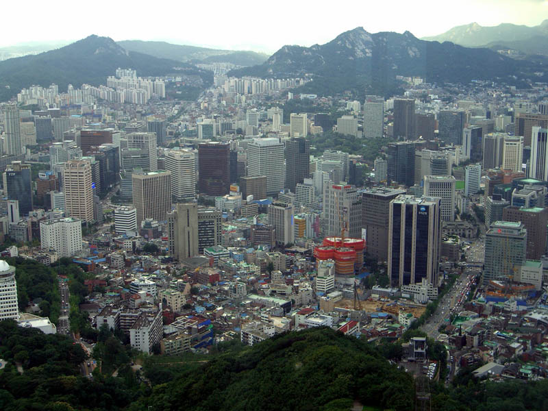 seoul south korea skyline aerial from above Top 25 Cities in the World with the Most High Rise Buildings