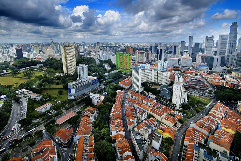 singapore skyline aerial from above Top 25 Cities in the World with the Most High Rise Buildings