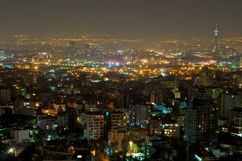 tehran iran skyline aerial from above Top 25 Cities in the World with the Most High Rise Buildings