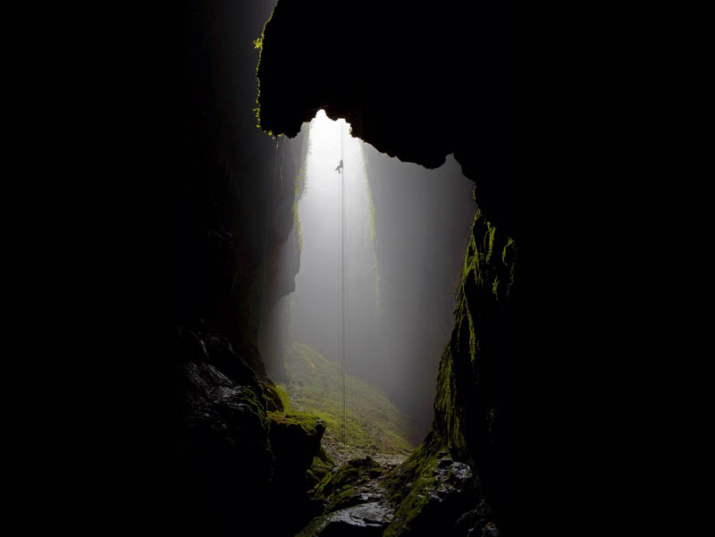 caving spleunking long descent Picture of the Day: The Great Descent